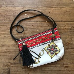 Brighton Hand Painted Canvas Crossbody Bag
